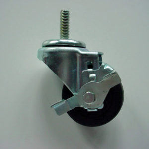 Rubber Wheel Caster, with Brake