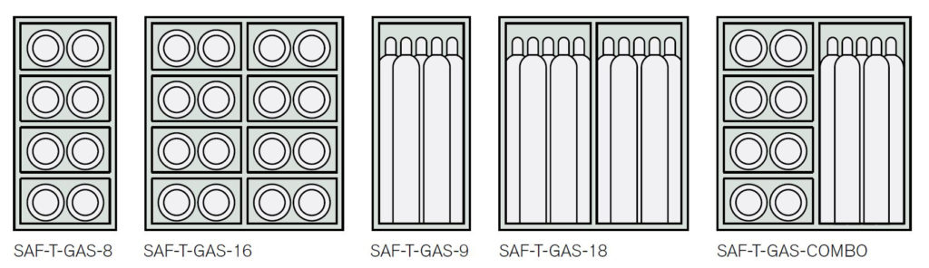 Saf-T-Gas™ Cabinet, Saf-t-Gas, cage, cabinet, Illinois Engineered Products, IEP, mesh, steel mesh, heavy duty, visual inspection, stored tanks, gas tanks, Safe-T-Gas, protect, gas cylinder tanks, unauthorized, access, prevent, dangerous, flammable, complies, compliance, standards, OSHA, NFPA, requirements, powder coated, safety yellow, yellow, welded construction, no assembly is required, pre-assembled