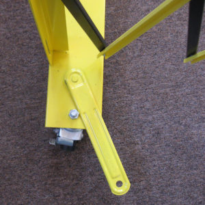Barrier Gate axle with strap